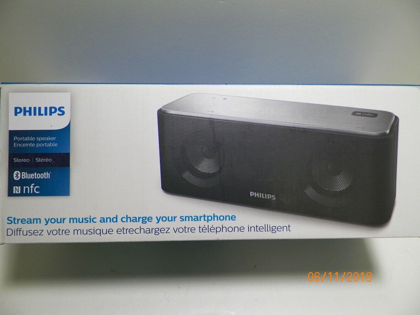Philips - Sb365b Portable Wireless Bluetooth Speaker - Black