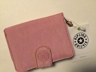 Kipling  NEW MONEY Small Credit Card Wallet Rose Pink new with tag