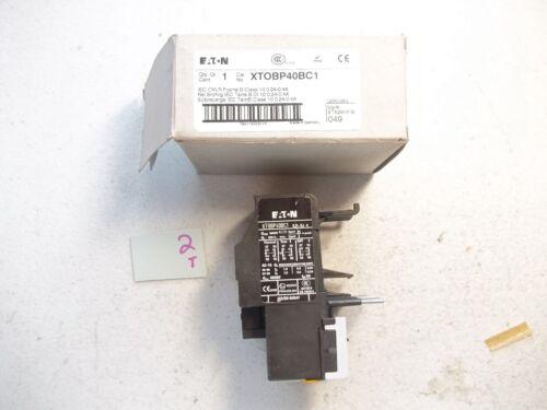 NEW IN BOX EATON OVERLOAD RELAY XTOBP40BC1 XT0BP40BC1 (150-2)