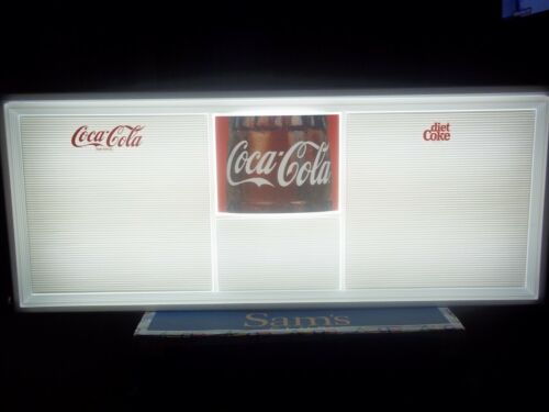 4ft Lighted Coca-Cola Menu Board Sign w/4 Sets of Letters,Numbers & Symbols