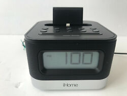 IHome iPL8BN Stereo FM Clock Radio with Lightning Dock for iPhone/iPod Black