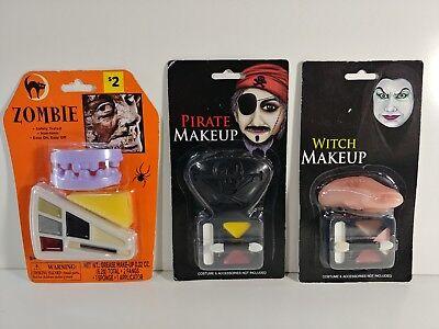 Halloween Costume Makeup Set, Set Includes Zombie, Pirate, & Witch](Zombie Pirate Makeup Halloween)