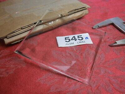 Clock BEVELLED GLASS 100 X 100 x 3mm Elliott mantle carriage parts spare garrard