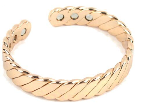 Twisted Pure Copper Magnetic Bracelet For Men Women Bangle Arthritis Pain Relief