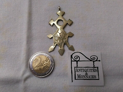 Cross Antique Pendant Ethiopia Coptic Silver Metal REF27418