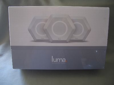 LUMA HOME SURROUND WIFI SYSTEM DUAL BAND WIRELESS ROUTER KIT 3 PACK NEW SEALED!