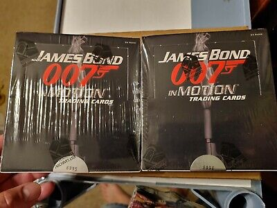 James Bond in Motion factory sealed 2 box card lot Relic/costume & 2 autographs