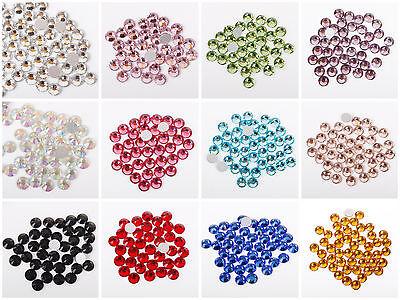 100pcs Glass Rhinestones Flat Back Crystals 2mm, 3mm, 4mm ,5mm