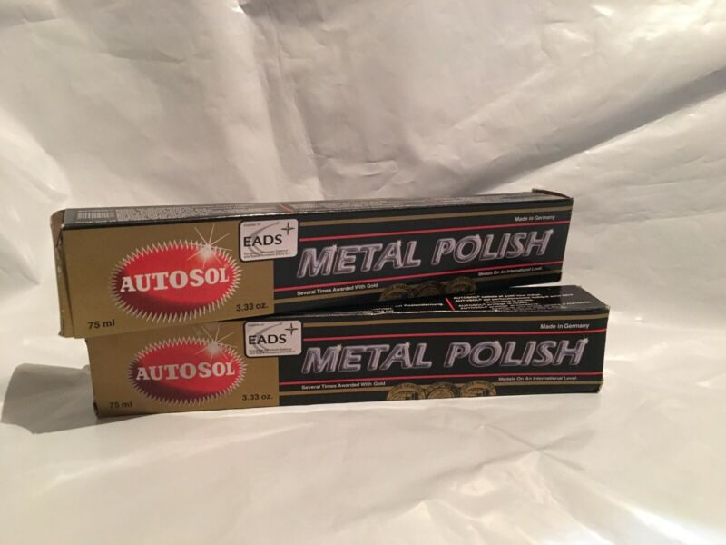2 Pack Autosol Metal Polish 75 ml for Chrome Copper Brass #1000 SameDay Shipping