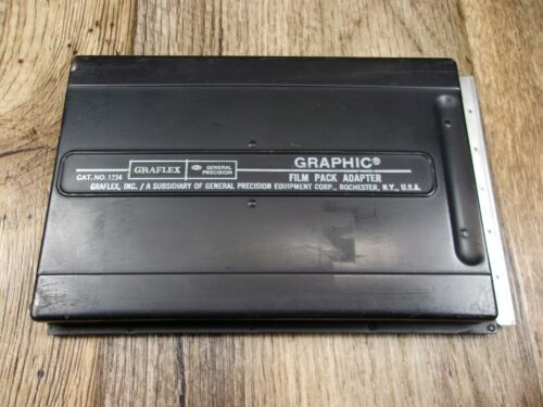 Graflex Graphic 4x5 Film Pack Adapter Film Holder 1234
