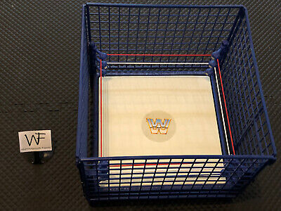 NICE WWF WWE Mattel 2010 Hall Of Fame Collectible Wrestling Ring and Steel Cage