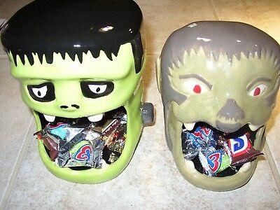 Frankenstein or Wolfman Head Halloween Cookie/Treat Ceramic Jar - Great for Kids](Halloween Cookies For Kids)