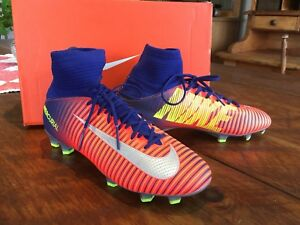 Nike Mercurial Vapor Superfly Blue/Orange FG Sz 4.5