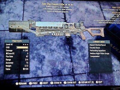 Fallout 76 - Xbox One TSE Gauss Rifle +250 dmg res
