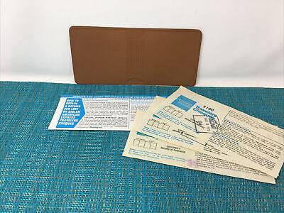 Vintage American Express Travelers Cheques -brown Vinyl Holdersleeve 1979