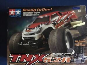 Gas powered remote control monster truck.