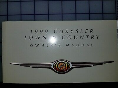 1999 Chrysler Town & Country Owners Manual Original