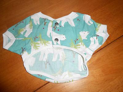 * The Company Store Size XS X Small Dog Pajama Top Clothes Polar Bear 10469