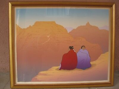 "RC Gorman Lithograph ""Grand Canyon"" c.1988 Framed #89/225"