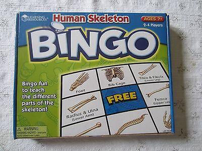 NIB  Human Skeleton Bingo by Learning Resources 2 - 4 players Ages 7+ Human Skeleton Bingo