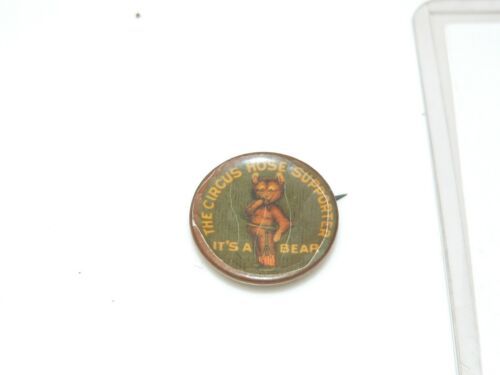ANTIQUE The Circus Hose Supporter WHITEHEAD & HOAG  PIN BUTTON