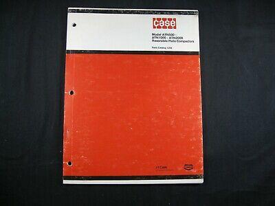Case Atn500 - Atn1000 - Atn2000 Reversible Plate Compactor Parts Manual Book