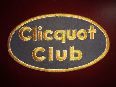 CLICQUOT CLUB UNIFORM PATCH SODA - 9 1/8 x 5 INCH VINTAGE RARE ORIGINAL!