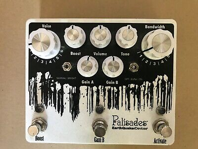 Earthquaker Devices Palisades V2 Mega Overdrive Guitar Pedal Excellent Condition