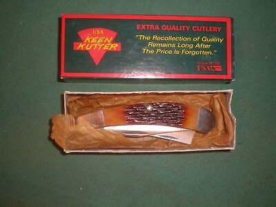Vintage 1992 Keen Kutter Pocket Knife 2 Bladed Razor Knife w/ Box Etched Blade