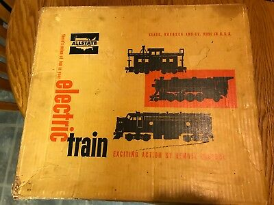 Marx Allstate Southern Pacific Deisel Electric Train set w/original box ~ Sears