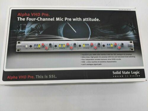 Solid State Logic Alpha VHD-Pre Rackmount Microphone Preamplifier 729998X1 J7859