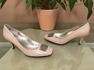Ladies Kennel & Schmenger beige patent leather court shoes UK 3.5 EU 36.5 NEW