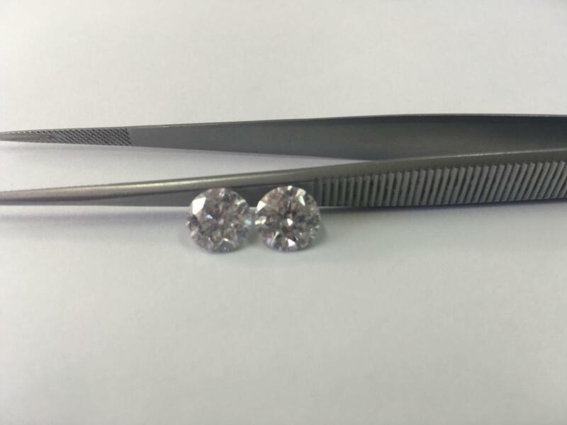 4 Carat Diamond Stud Earrings Round Brilliant Solitaire E Si1 Ex 14 K White Gold