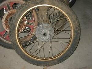 YAMAHA DT175 WHEELS GOLD NEED A GOOD CLEAN UP Hillcrest Logan Area Preview