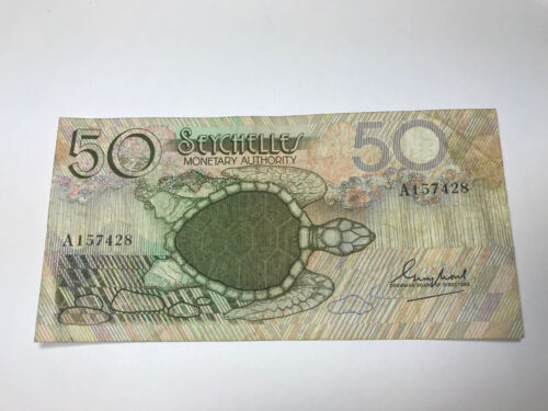 Seychelles 50 Rupees 1979 Banknote P-25 with Starship Enterprise Sea Turtle