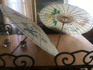 Thai paper and bamboo umbrellas 20$ for the pair