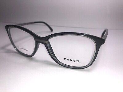 CHANEL Eyeglass Frames 1506-T c. 501 Women's Men's Glasses Black & Titanium (Chanel Frames For Men)