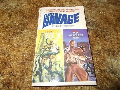 DOC SAVAGE SERIES~KENNETH ROBESON~(HOUSE NAME OF LESTER DENT)~#123~#124~PB BOOK
