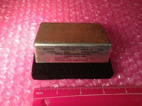 Racal RA-6790/GM Receiver Filter 3 Khz (module 455 Khz) Wide Shape Factor 1:6