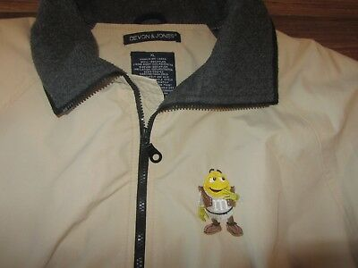 Fun M&M Mens Full-Zip Insulated Jacket, Yellow M&M, Devon & Jones, Size XL](M&m Fun Size)