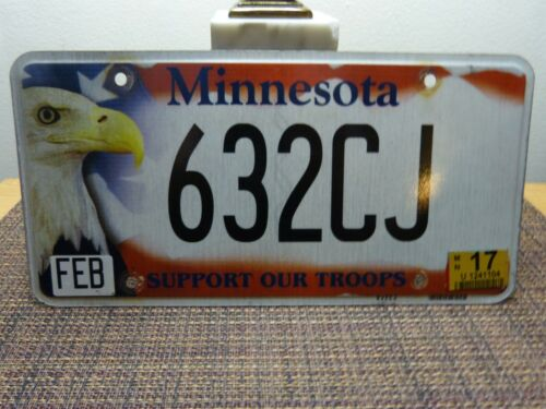 MINNESOTA LICENSE PLATE - SUPPORT OUR TROOPS