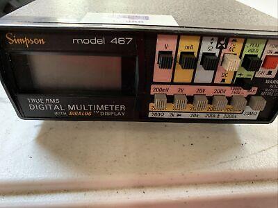 Simpson True Rms Digital Multimeter Model 467