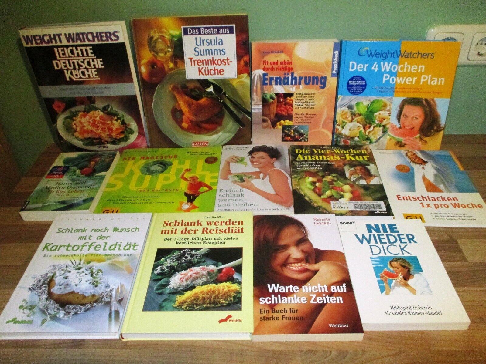 31 Bücher Diät Fettarm Abnehmen schlank im schlaf Weight Watchers  Paket