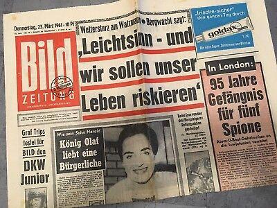 Bildzeitung 23. März 1961 BILD Zeitung 23.03.1961 * 61. 58. 59. 60. Geburtstag