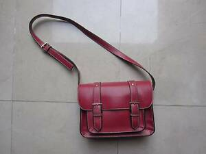Retro Red Faux Leather Handbag Campbelltown Campbelltown Area Preview