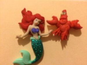 Ariel Little Mermaid and Sebastian Stud Earrings, Disney Jewelry