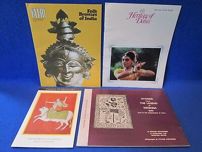 Paper Art Museum (4 INDIA MUSEUM ASIAN FOLK ART DANCE PAPER BOOKLETS NEWSLETTER 1980's SOUVENIR )