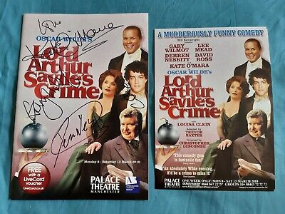 LORD ARTHUR SAVILE'S CRIME THEATRE PROGRAMME SIGNED BY LEE MEAD KATE O'MARA
