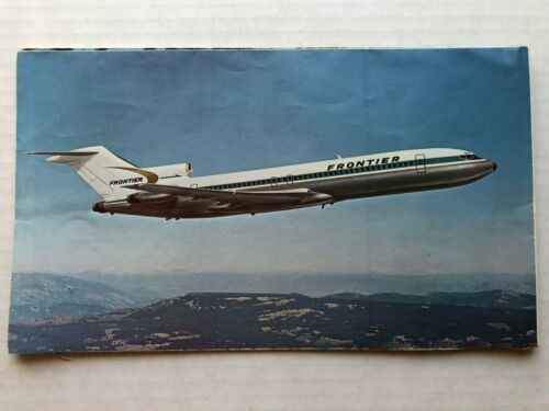 1970 Frontier Airlines Route Map Poster