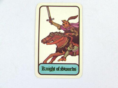 Vintage 1972 Hoi Polloi Tarot *Single Replacement Card* Knight of Swords
